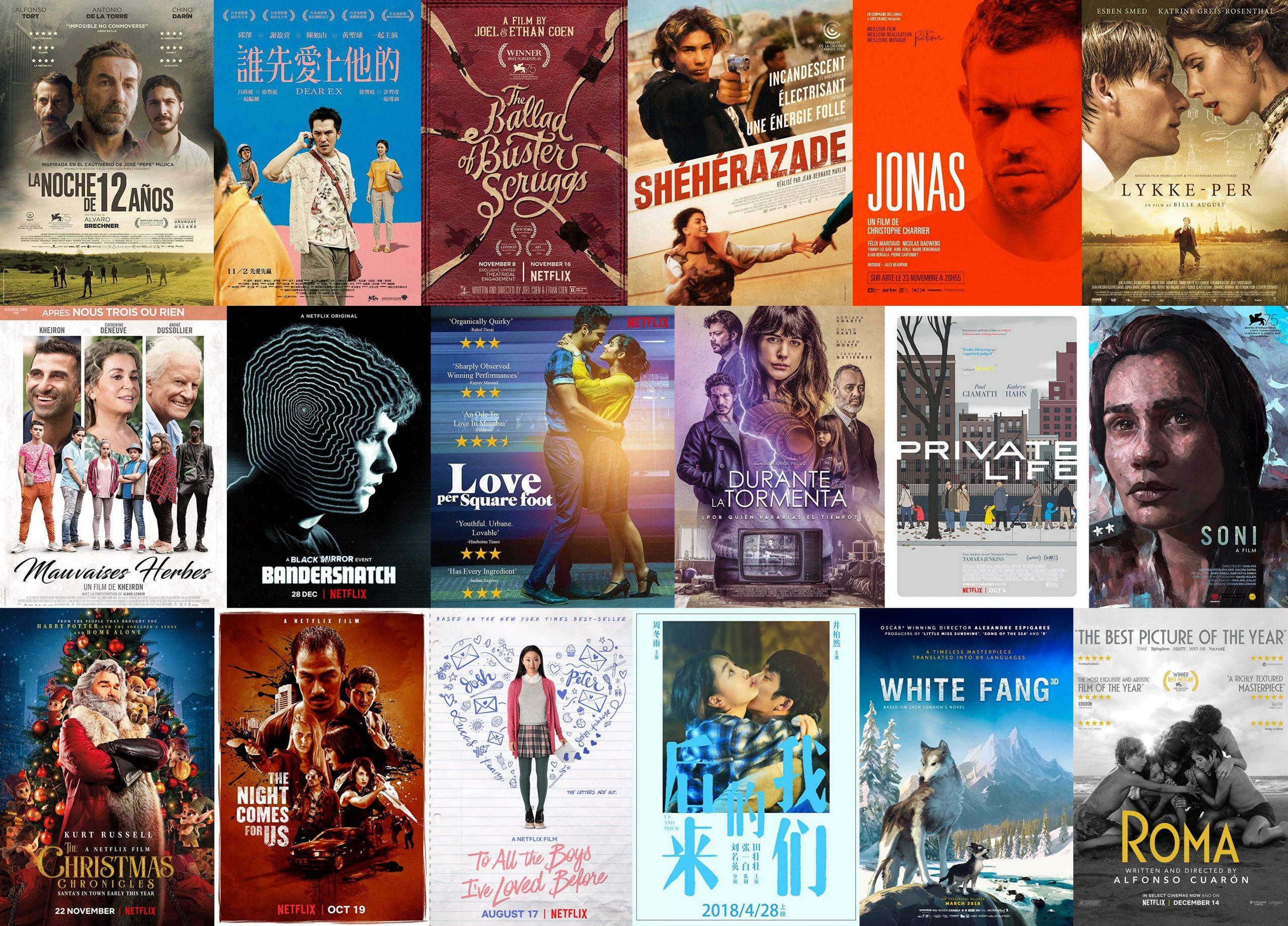IMDbでの点数が7点以上のNetflixオリジナル映画(2018年の劇映画編)