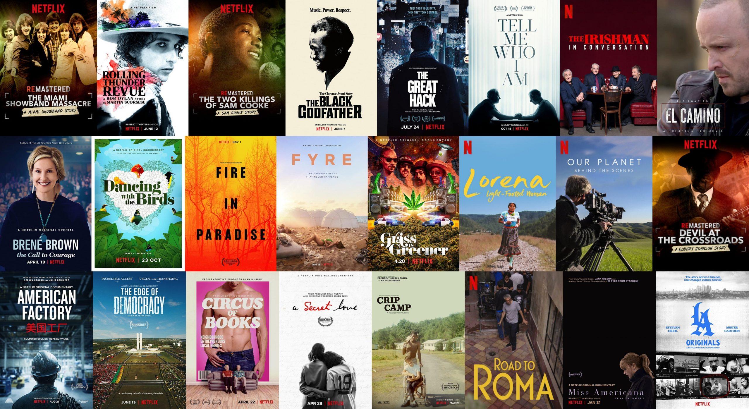 IMDbでの点数が7点以上のNetflixオリジナル映画(2019年〜2020年のドキュメンタリー編)